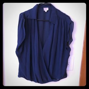Parker silk blouse size medium